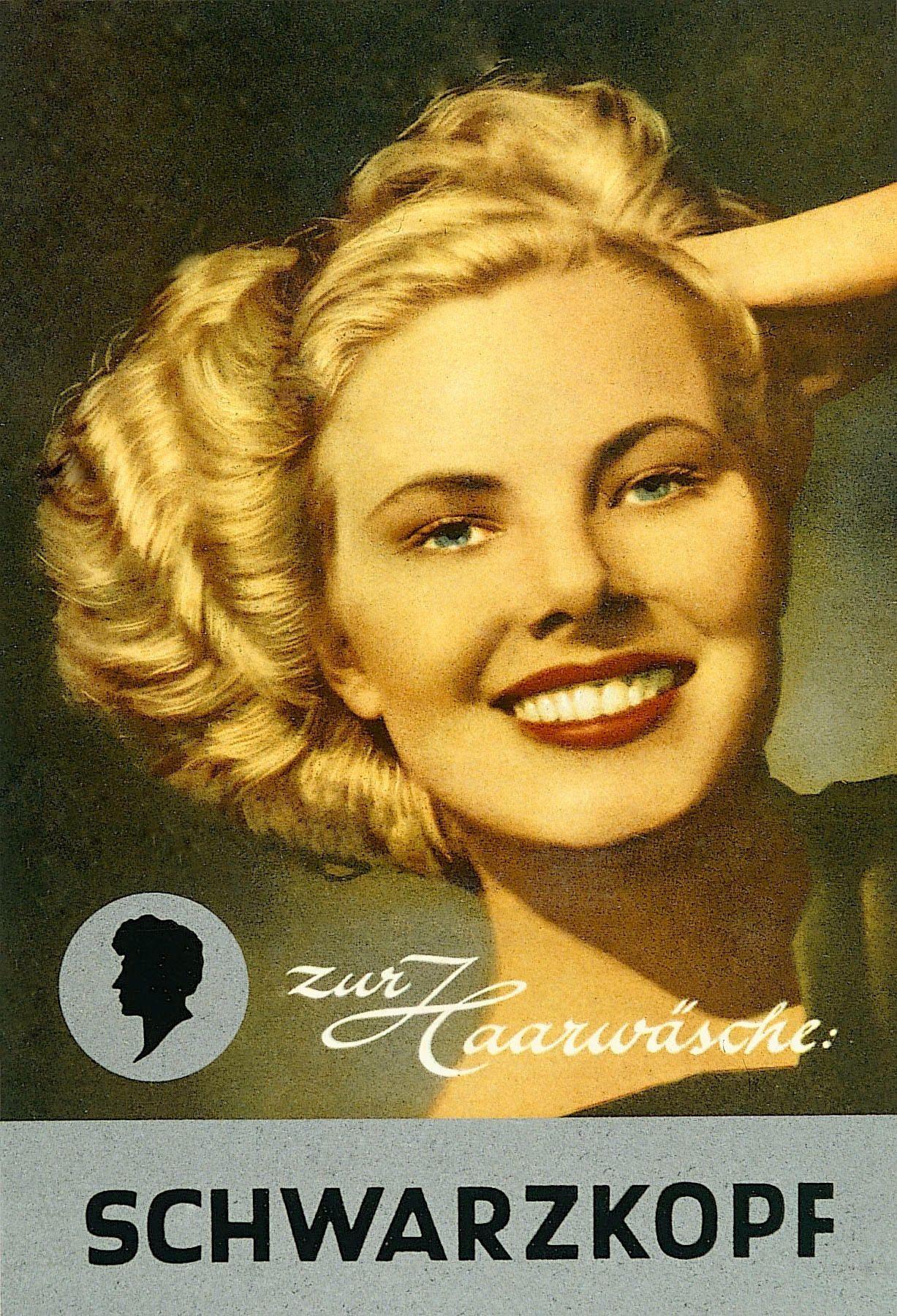 Alte Werbung Frisuren historisch Pinterest