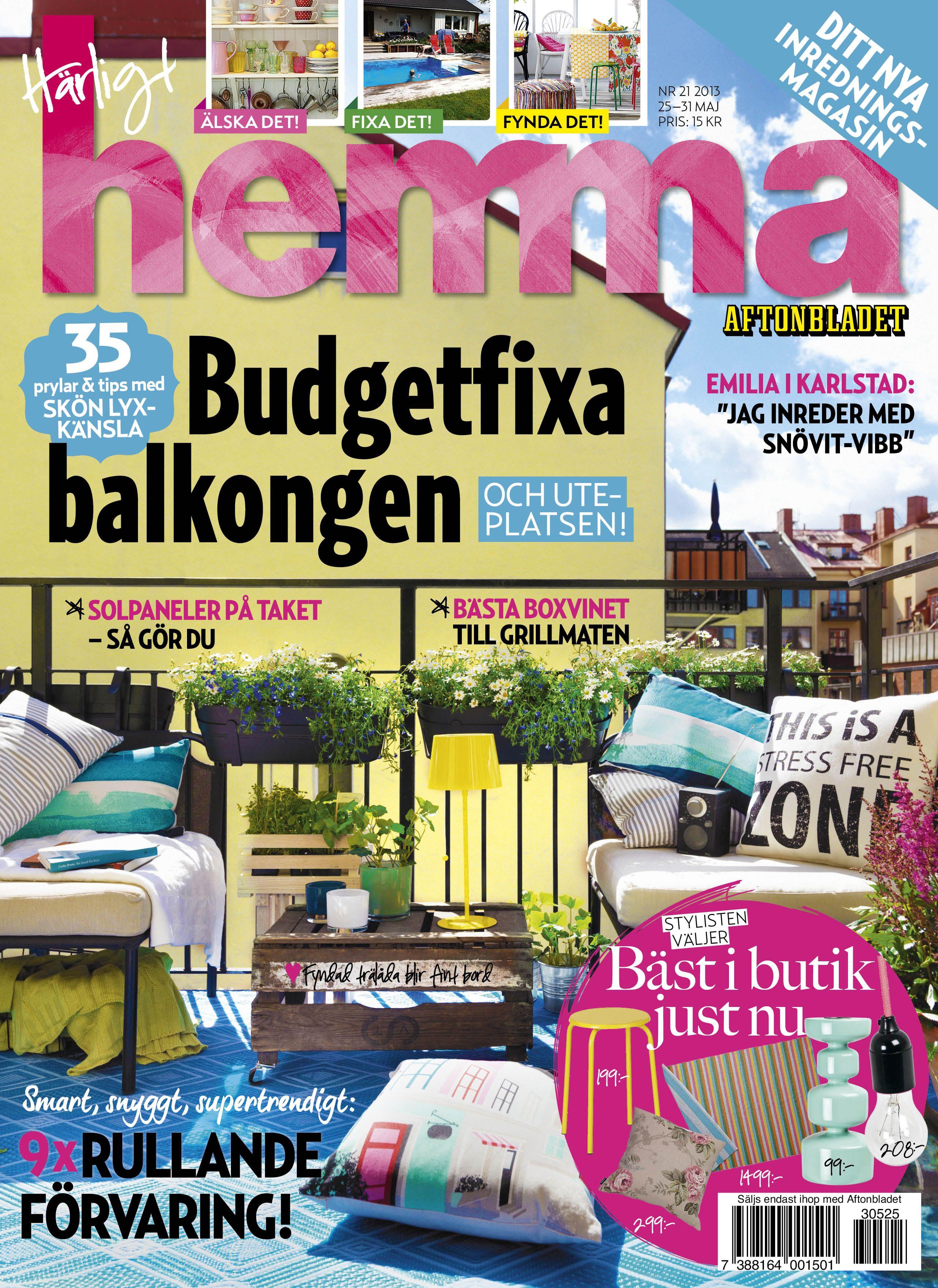 Veckans nummer av Härligt hemma! Nr 21/2013.