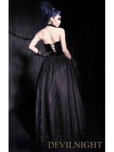 New Black Purple Red Green velvet Runched Hitched Long Lace Skirt Party Gothic