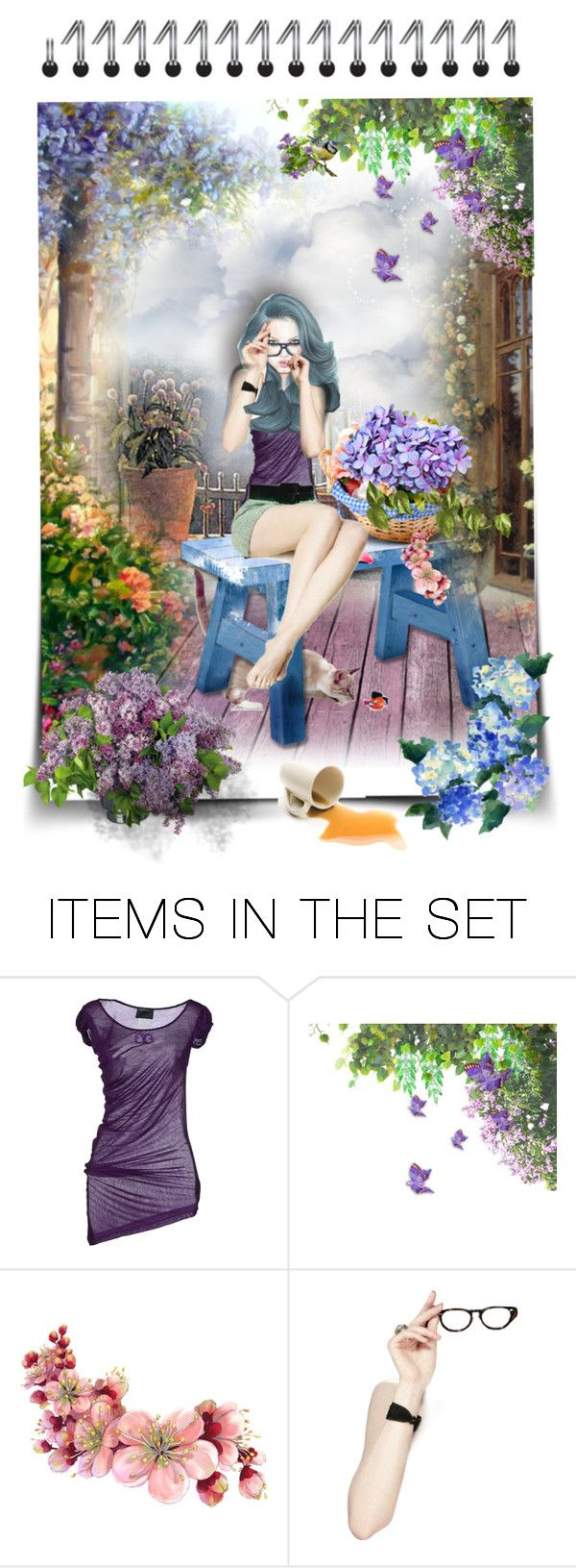 """""""Hot coffee on the terrace"""" by kikilea ❤ liked on Polyvore featuring art"""