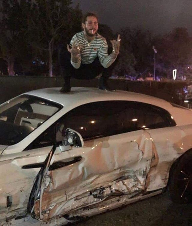 Post Malone Aesthetic: Posty After Crashings His Rolls Royce...