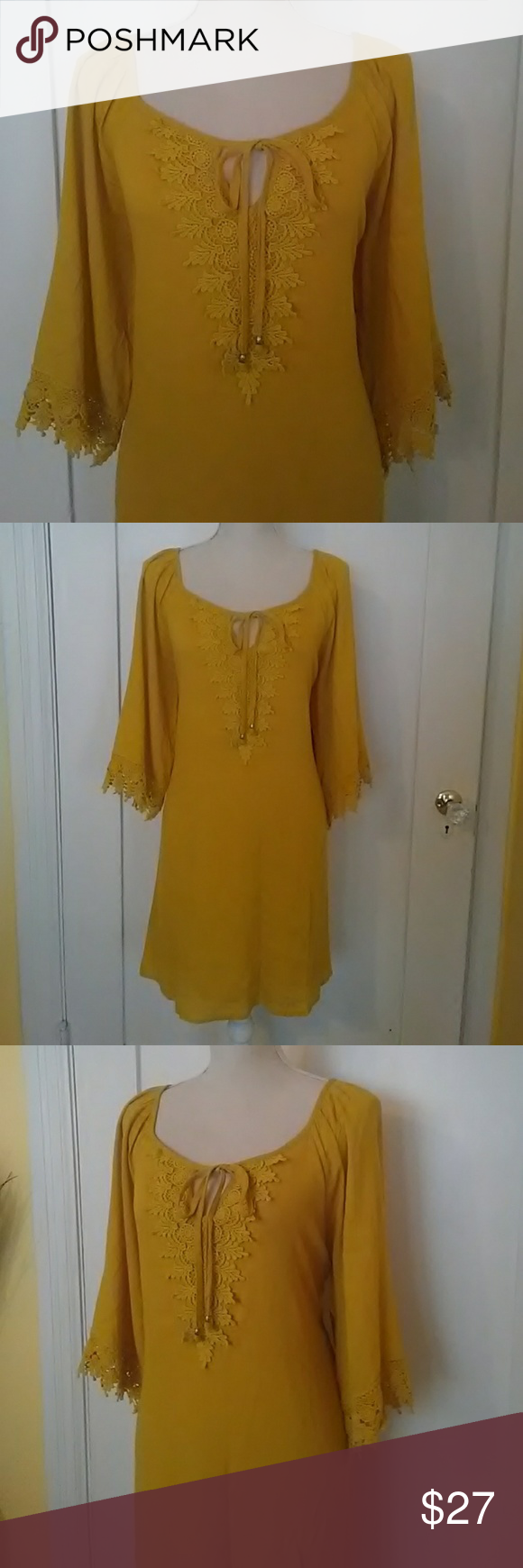 Naif petite XL dress NWT mustard yellow Naif Dresses Mini