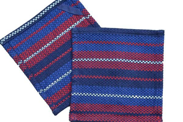 Dish Cloths Kitchen Towels From Guatemala Red White Blue V1