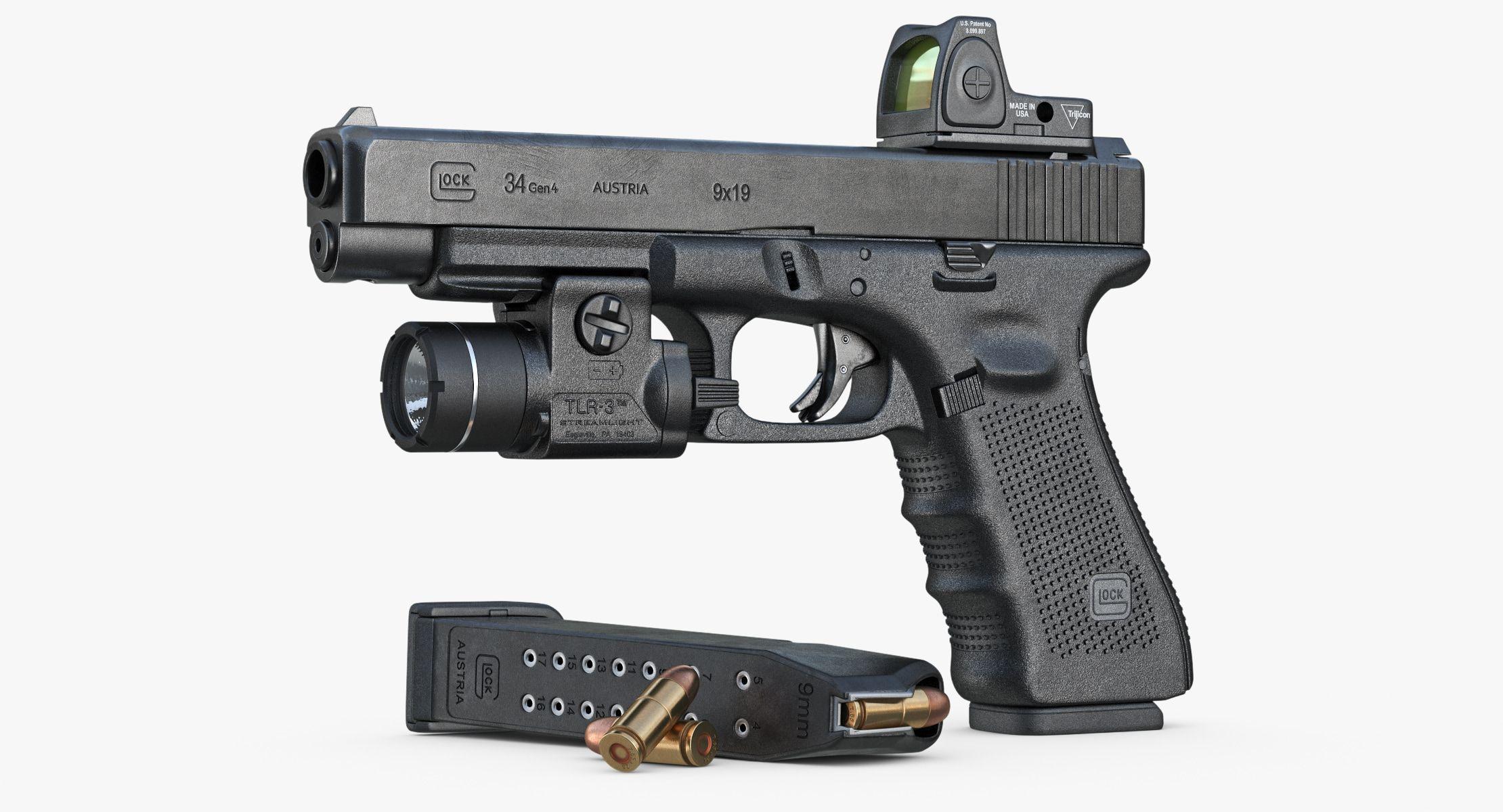 Gun Glock 34 Gen Max - 3D Model   Boom sticks   Pinterest