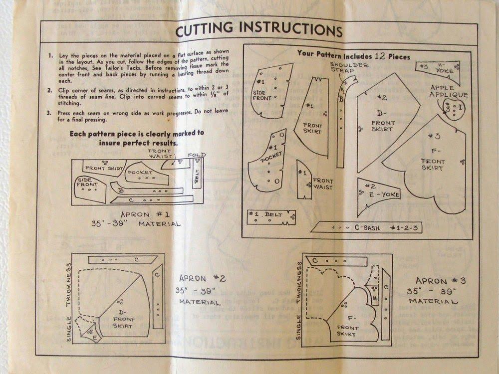 Mrs. Button's Vintage Corner: Vintage Pattern Inspiration: Vintage Aprons & Free Patterns