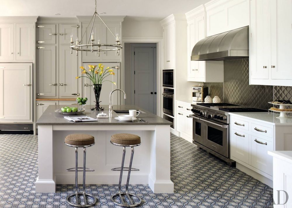Traditional Gray U0026 White Christopher Peacock Kitchen In Quogue, NY Designed  By Penny Drue Baird