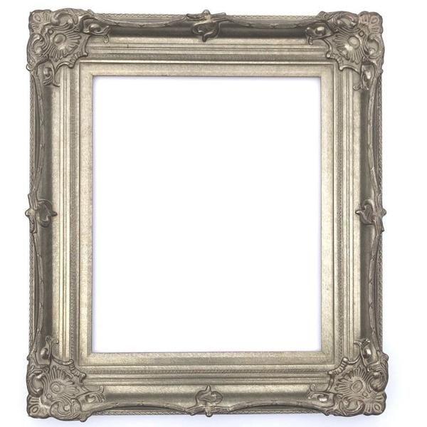 Victoria Ornate Antique Silver Leaf Wood Baroque Picture Frame 5 Wide Ornate Picture Frames Picture Frames Picture Frame Wall