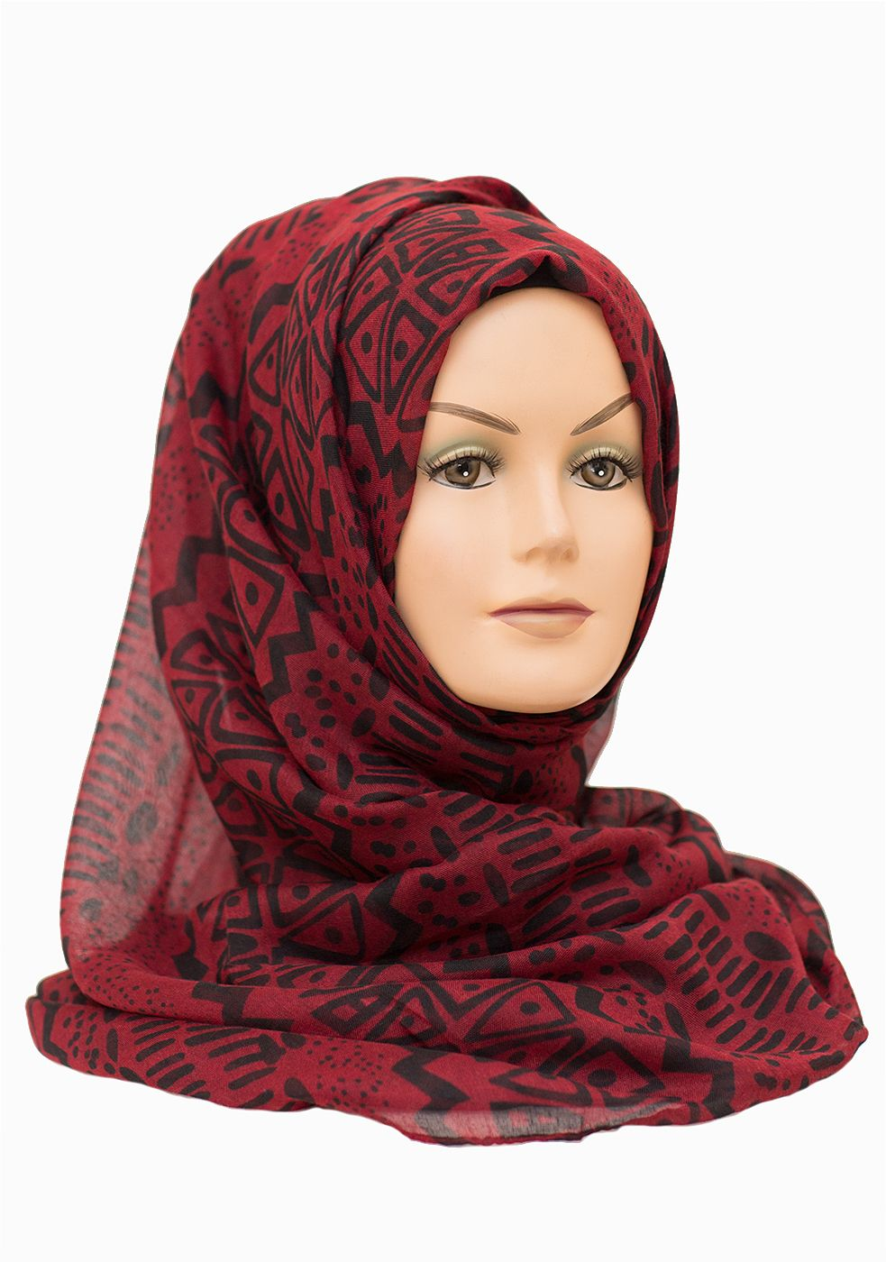 Tribal Red Hijab | Red maxi, Red, Tribal prints