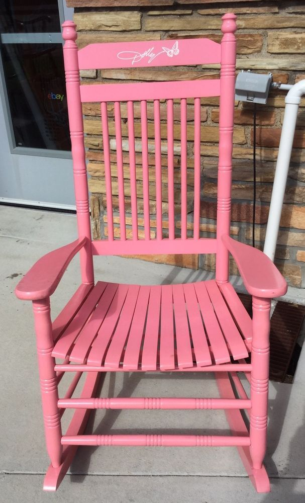 Cracker Barrel Dolly Parton Pink Rocking Chair Rocker Limited Edition