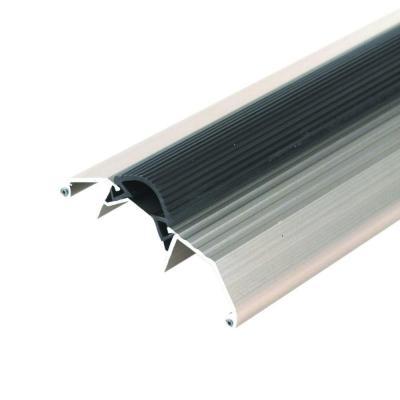 M D Building Products Deluxe High 3 3 4 In X 77 1 2 In Satin Nickel Aluminum Threshold With Vinyl Seal 99051077500 Satin Doors Floors Door Weather Stripping