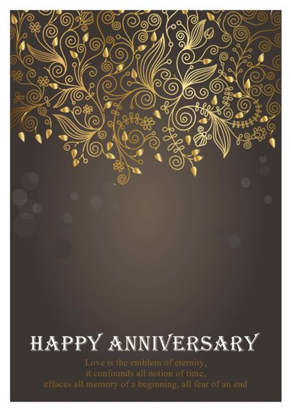 Anniversary Card Templates Greeting Card Builder With Images