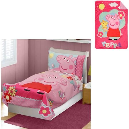 Nickelodeon Peppa Pig Toddler Bedding Set With Bonus Blanket