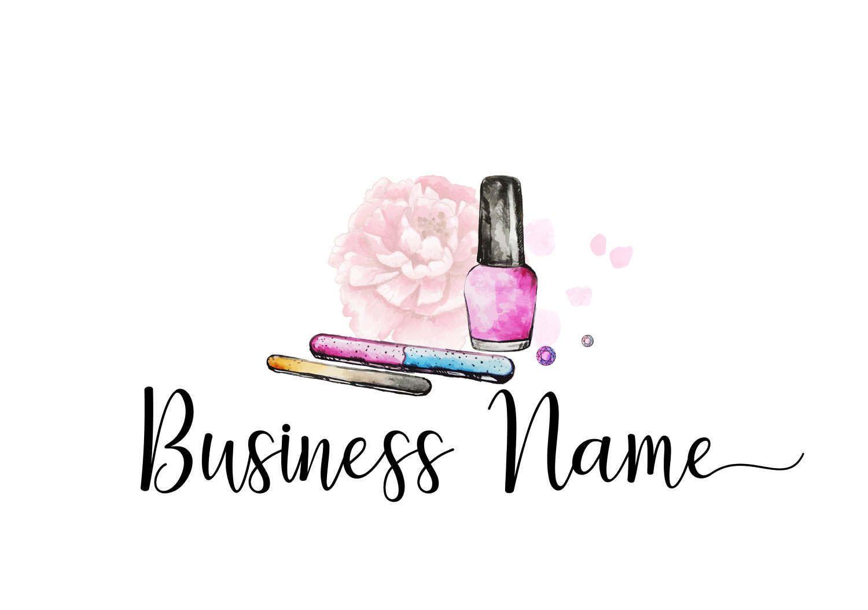DIGITAL Premade Logo Manicurist Logo, Nail Polish Logo