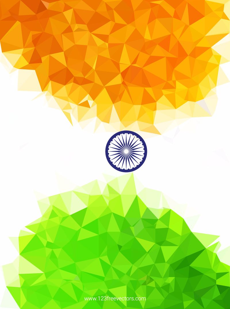 Indian Flag Background in 2019 | Free Vectors | Indian flag, Flag
