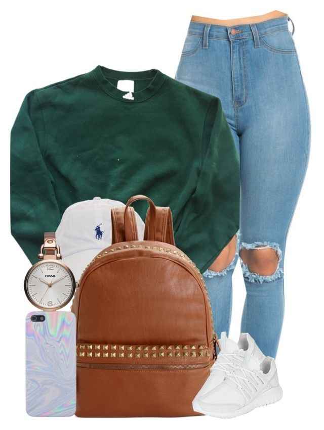 A fashion look from October 2016 featuring adidas tops, adidas shoes and Steve  Madden backpacks.