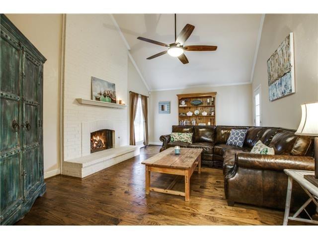 Great open living room // White brick fireplace // Beautiful hardwood floors // ... - - #whitebrickfireplace