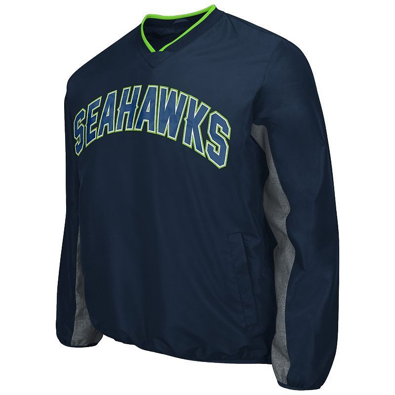 Men's Seattle Seahawks Ripstop Pullover Jacket, Size: Medium, Ovrfl Oth