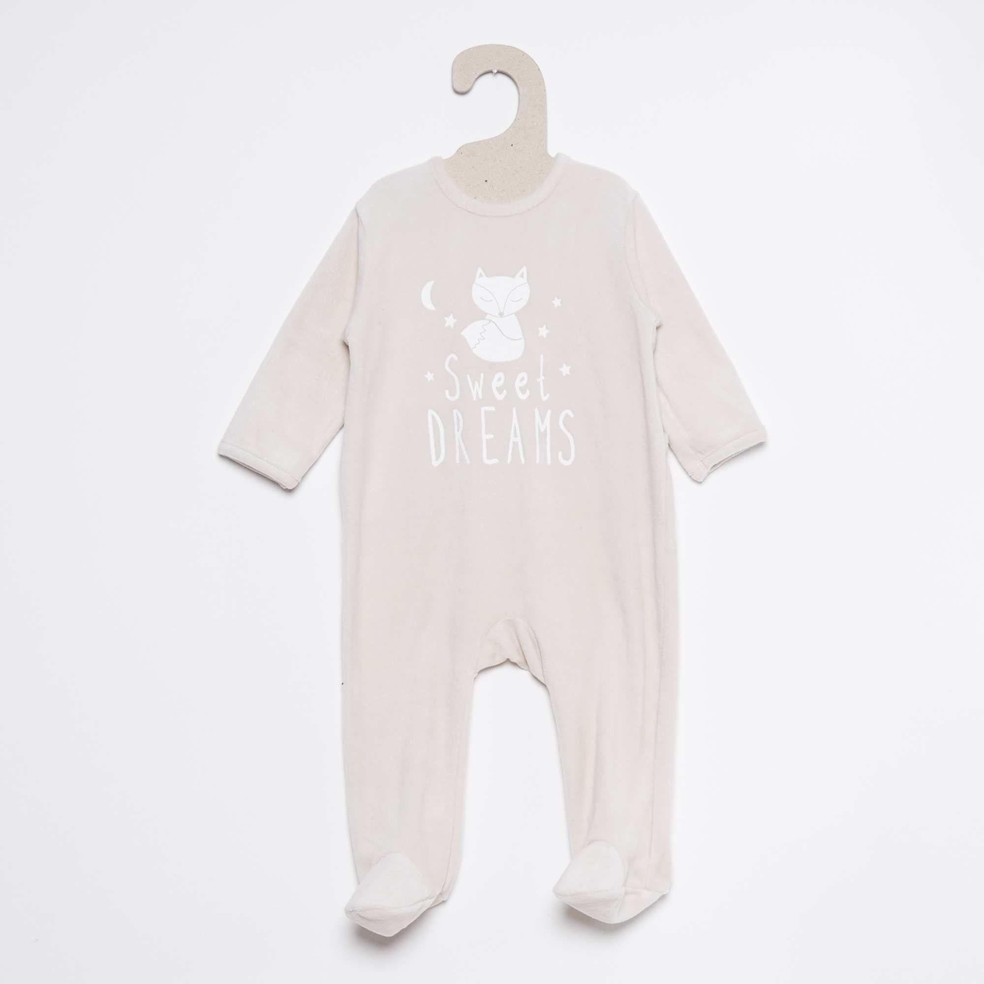 8011a42006df6 Pyjama en velours imprimé Bébé garçon - Kiabi - 4