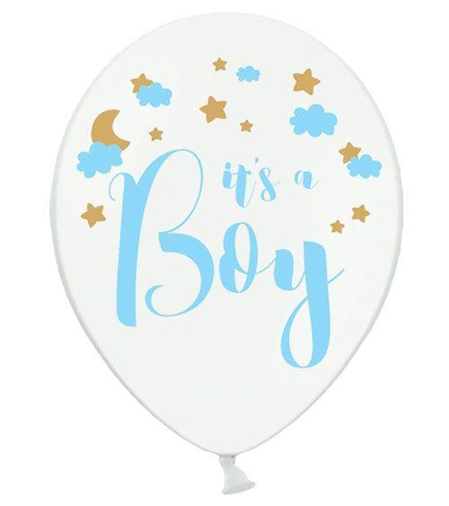 """Luftballons """"It's a Boy"""" mit Wolken und Sternen 50"""