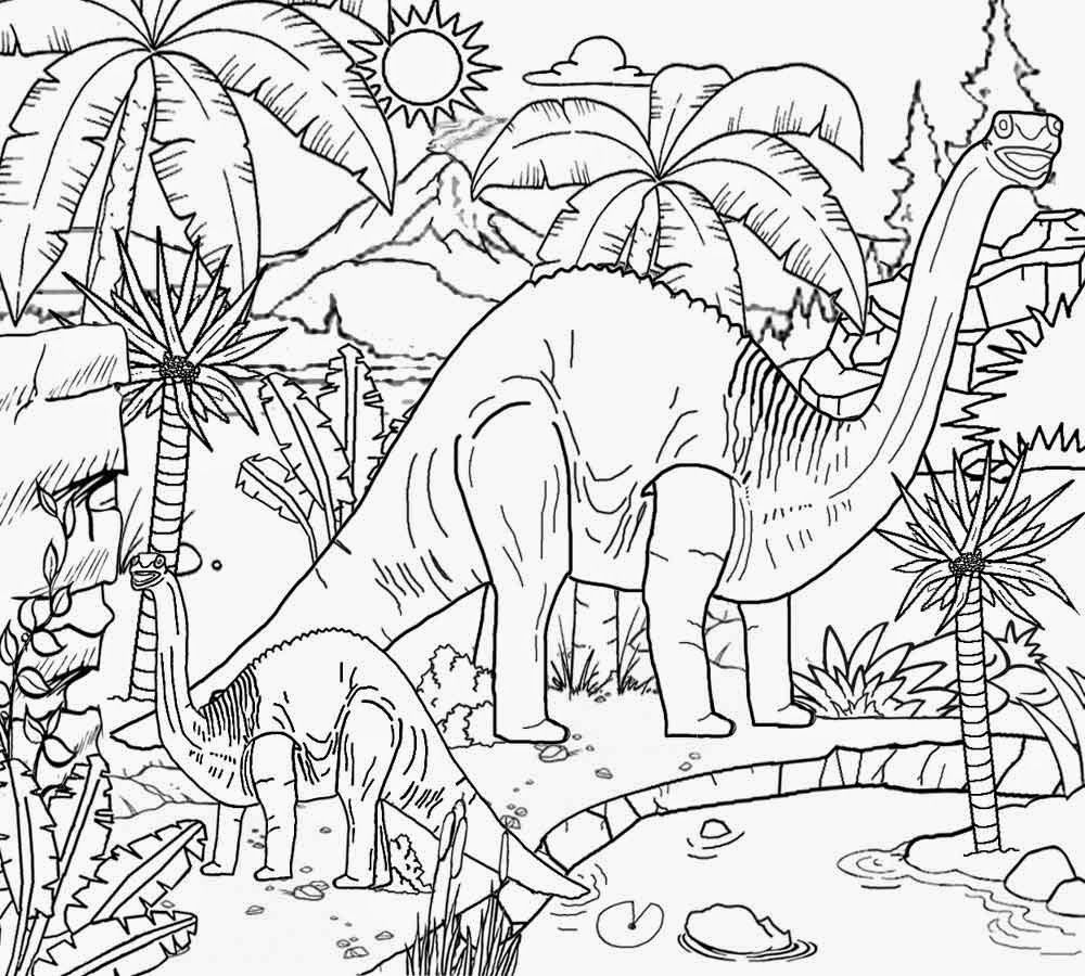 Discover Volcano World Of Reptile King Dinosaurs Coloring