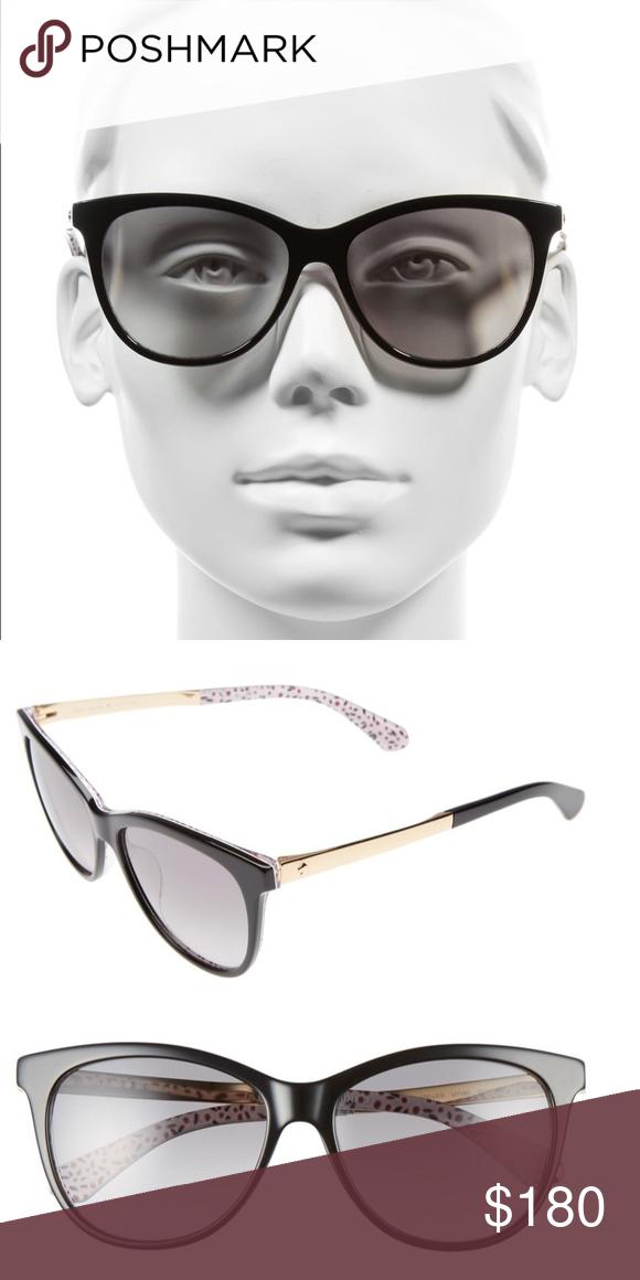 7d6904626a kate spade Cat Eye Sunglasses kate spade Jizelle 55mm Gradient Lenses Cat  Eye Sunglasses Black Details  • Retro-chic • Cate eye silhouette • 55mm  lens width ...