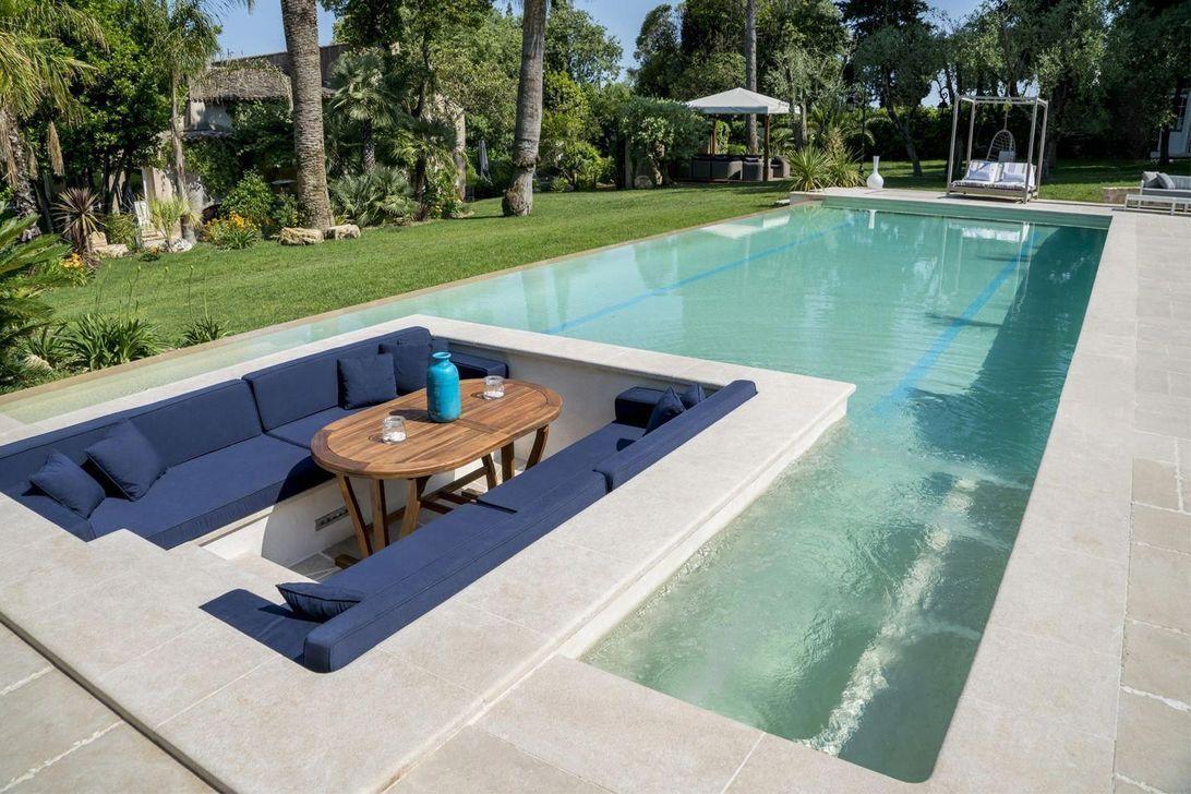33 Wonderful Modern Swimming Pool Design Ideas You Will Love Trendehouse Swimming Pools Backyard Small Backyard Pools Pool Houses