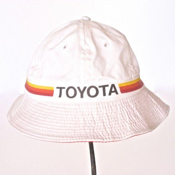 44262d512a2 Vintage Toyota Bucket Hat - Gilligan Hat - Vintage Industrial ...