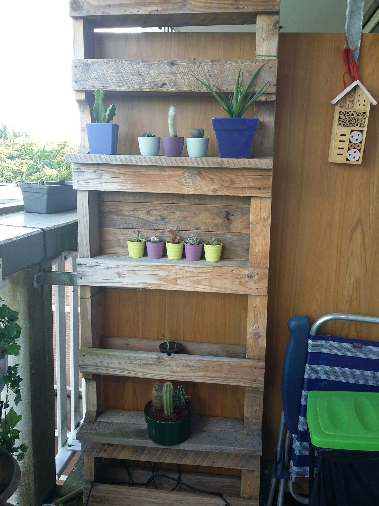 Diy pallet plant rack