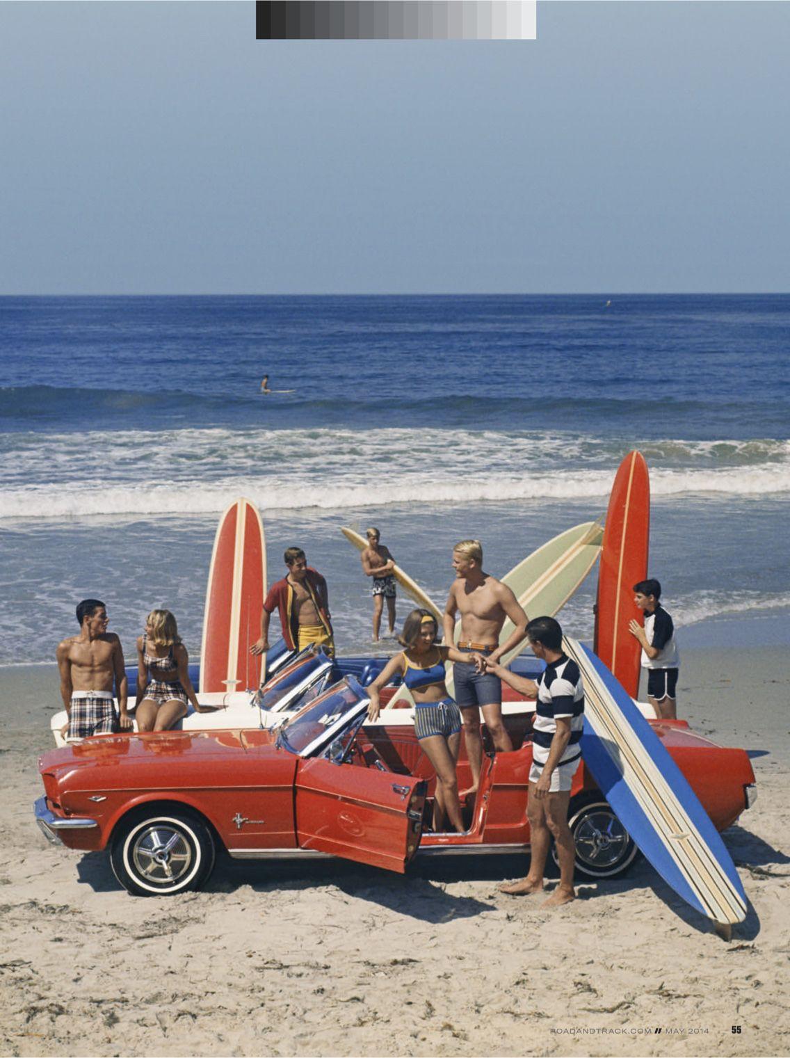 1967 mustang convertible vintage surf vintage vibes big waves longboards surfs