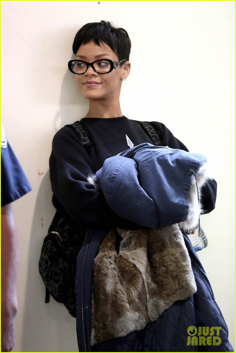 dd2fb5ccbcc Rihanna without make up in Prada Baroque Eyeglasses