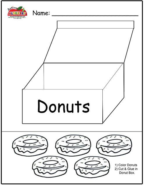 donut worksheets for preschoolers google search d preschool worksheets preschool letters. Black Bedroom Furniture Sets. Home Design Ideas