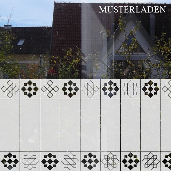 Sichtschutz und Dekoration für Glas Musterladen Fensterdekoration