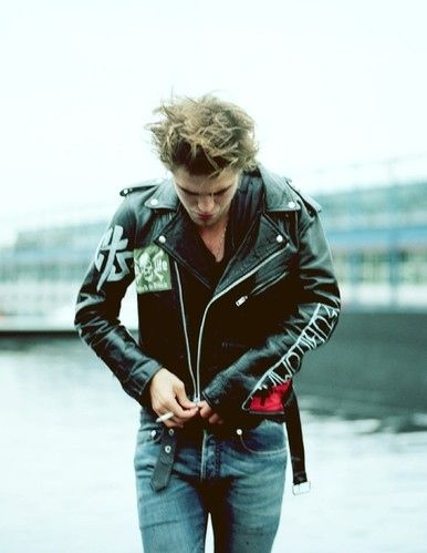 actors, biker, fashion photography, leather, man, photo