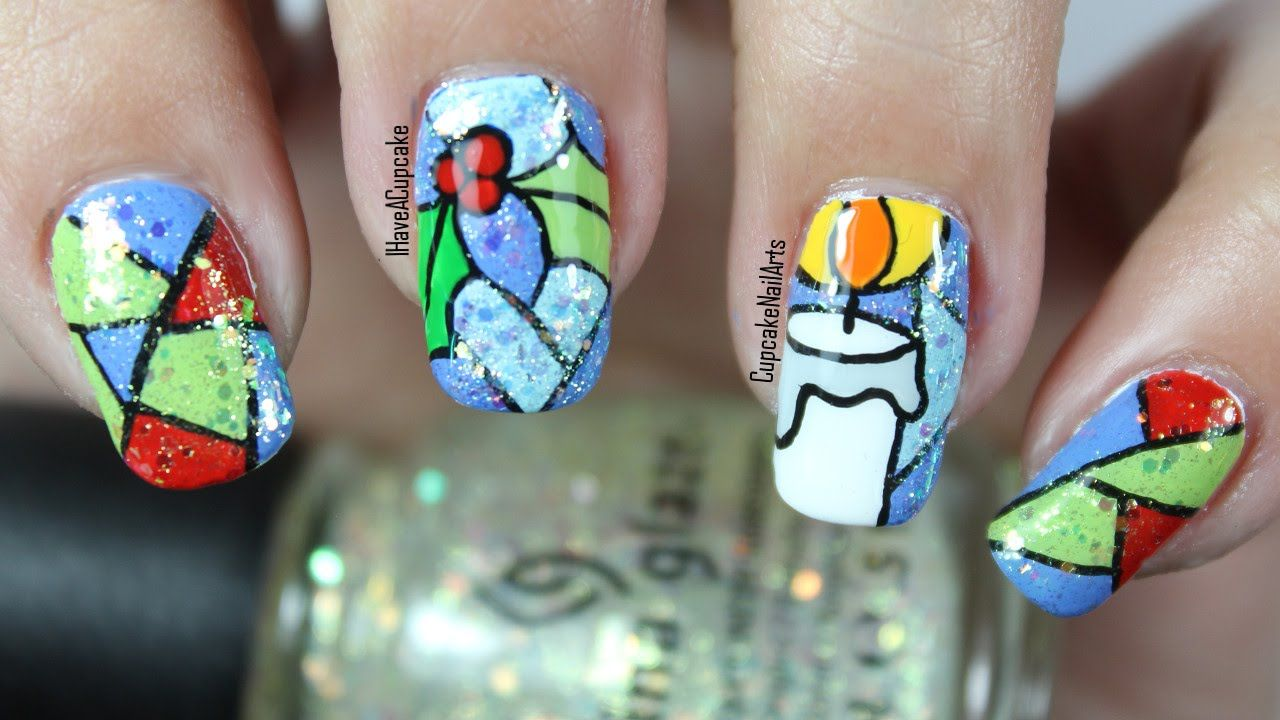 Christmas Nail Art *Stained Glass*