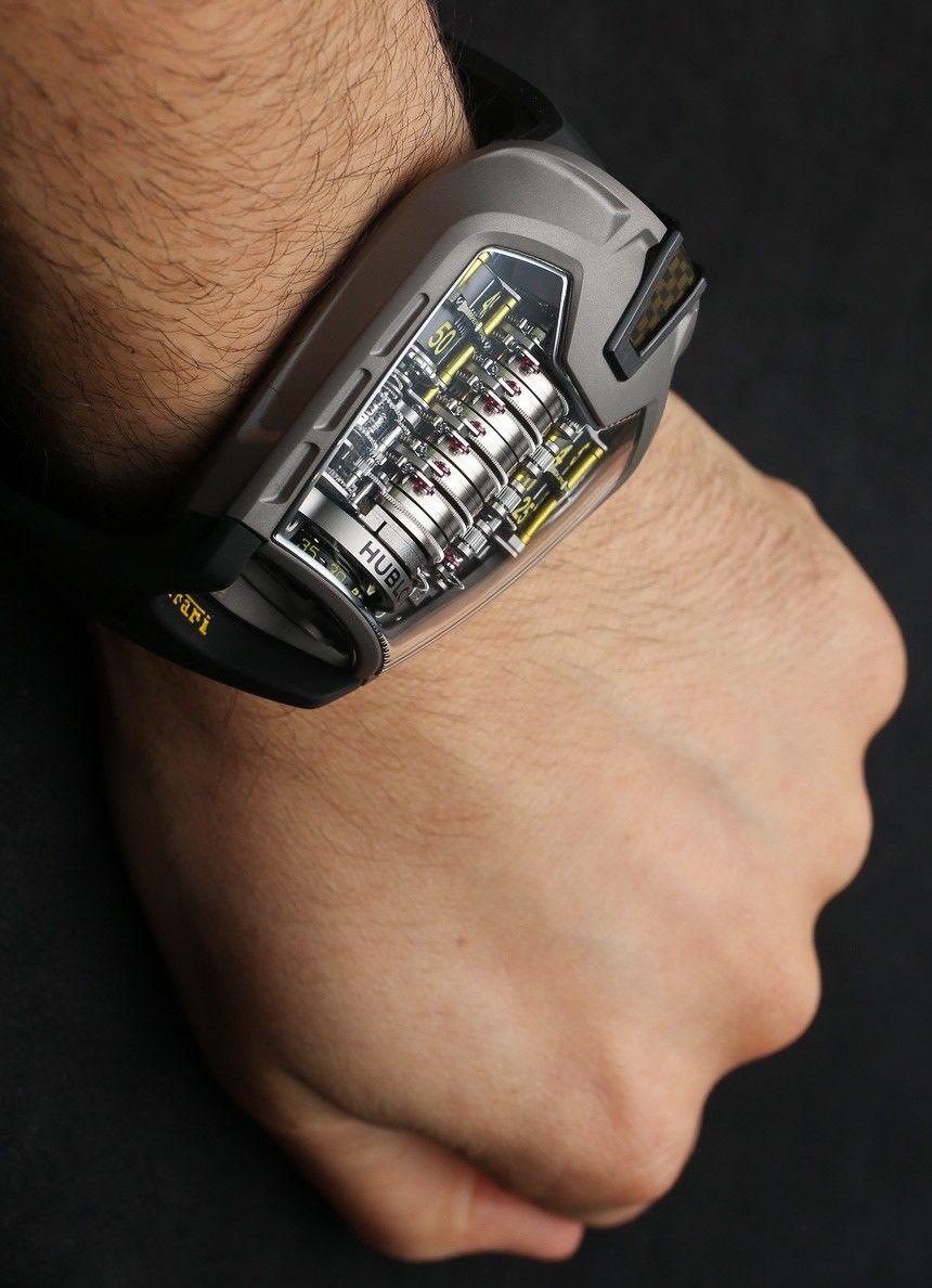 Hublot Mp 05 Laferrari Ferrari Titanium Yellow Watch Hands On Ablogtowatch Hublot Yellow Watches Watches For Men