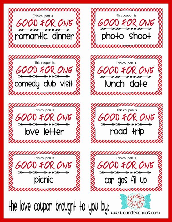 The Love Coupon Book By Candied Chaos  Valentines Day Gift Ideas