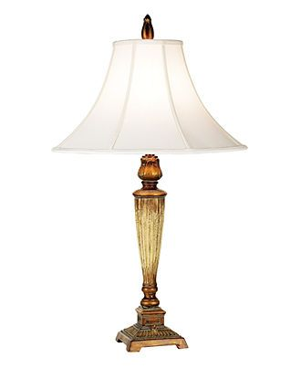 Pacific Coast Table Lamp, Gold Crackle Square Base Accent ...