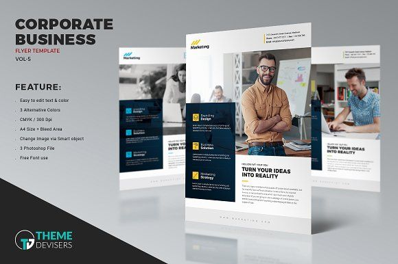 Clean Corporate Flyer Template @creativework247 Flyer Templates - corporate flyer template