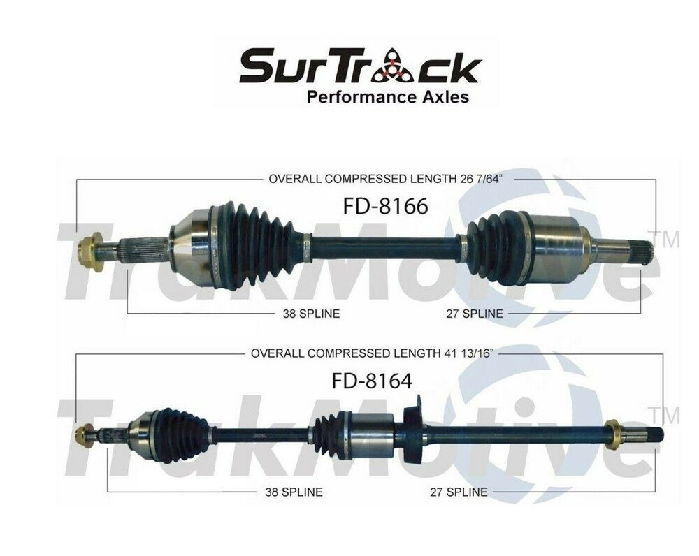 For Ford Taurus Flex Lincoln MKS FWD Pair of Front CV Axle Shafts SurTrack Set