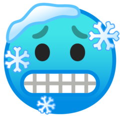 Cold Face On Google Android 9 0 Cold Face Emoji Cold