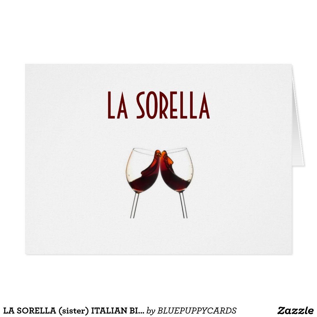 LA SORELLA sister ITALIAN BIRTHDAY CARD AND CHECK OUT MY OTHER – Italian Birthday Card
