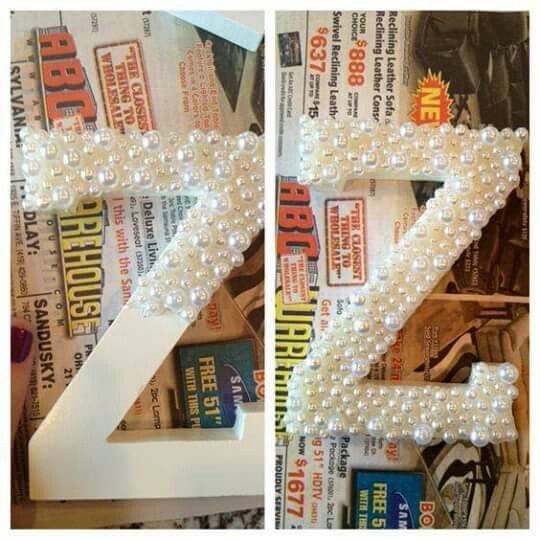Perlas 2 letras pinterest creative inspiration - Letras de madera decoradas ...