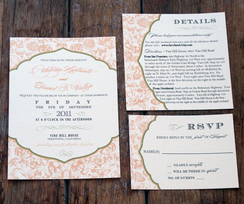 Vintage Modern Wedding Invitation,Rustic Wedding Invitations,Cottage ...