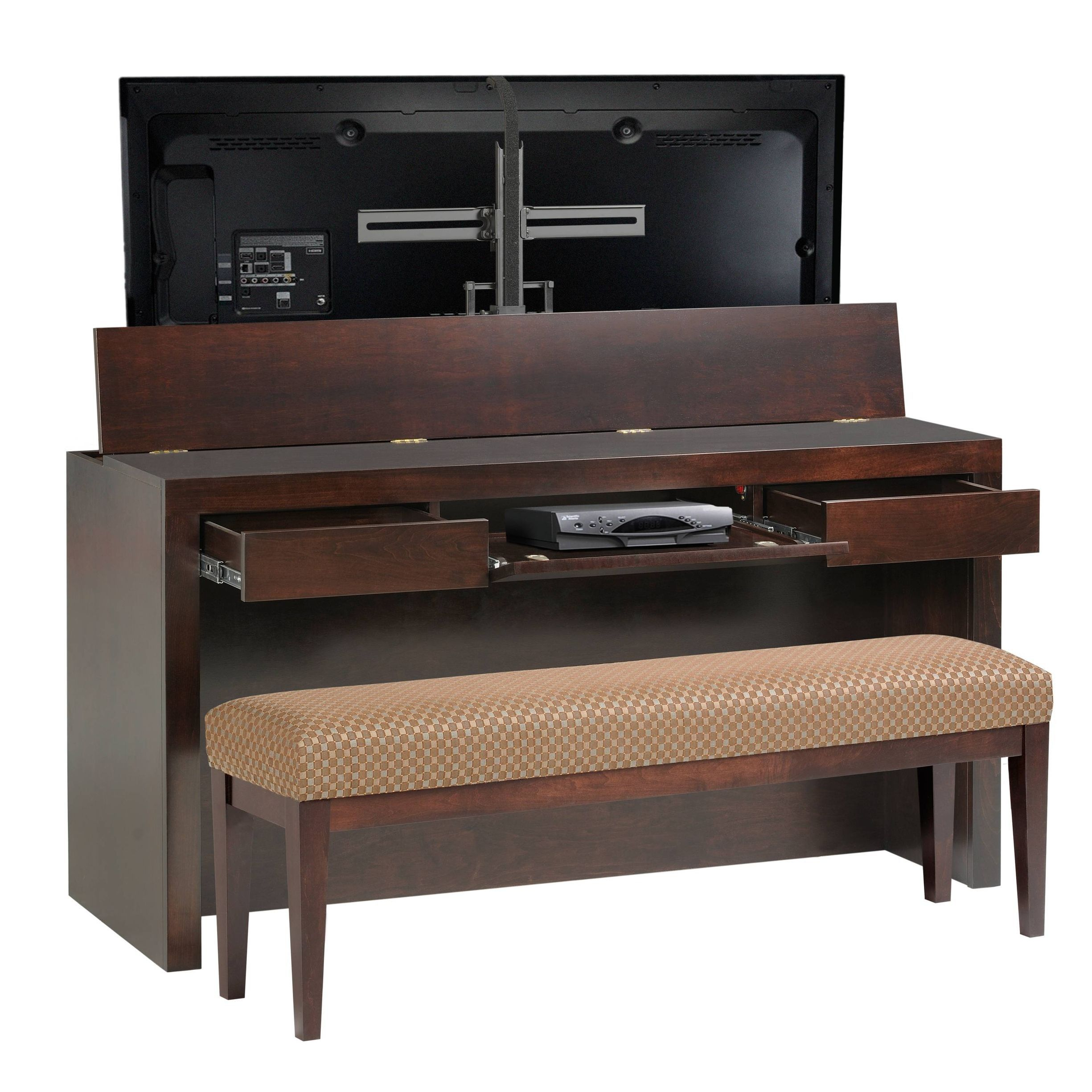 Amazing Queen King Footboard Desk Lift W Bench Tv Lift Cabinet In Inzonedesignstudio Interior Chair Design Inzonedesignstudiocom