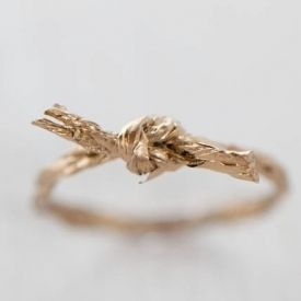 Two DIY rings made out of twine. Quick, easy, and surprisingly sturdy!