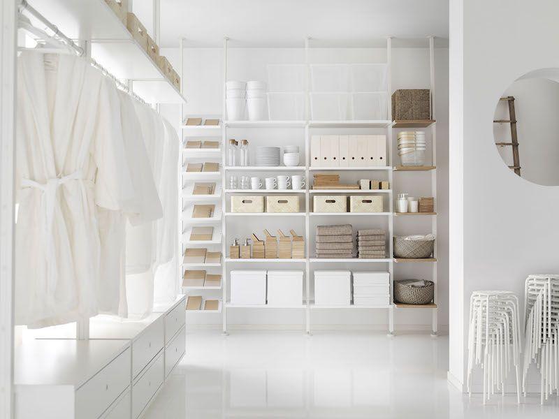 2 ikea elvarli storage solution shelving unit