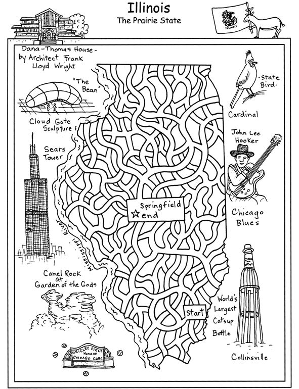 United States Maze 1 Mazes Dover Publications Geography