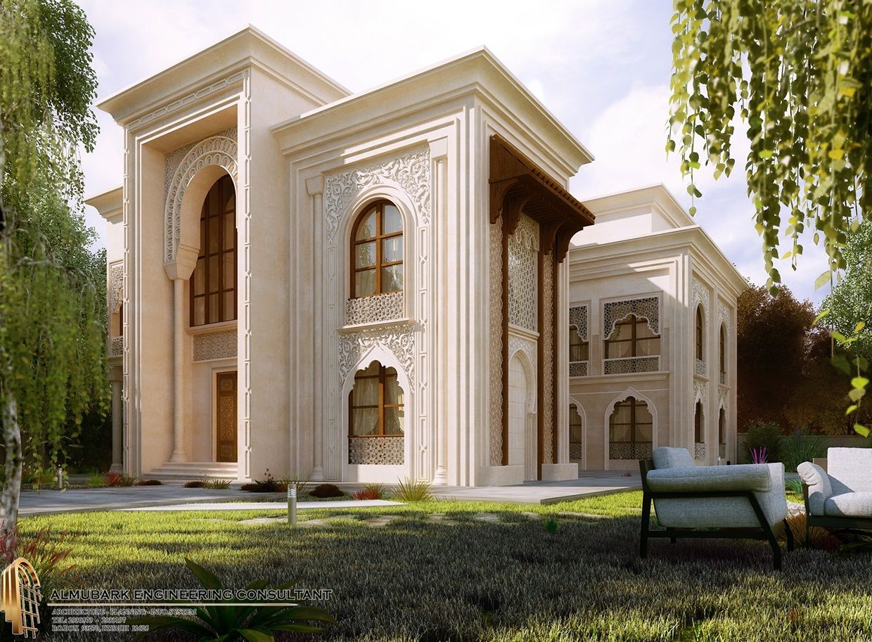 Islamic villa on behance hoomes pinterest islamic for Classic villa exterior design