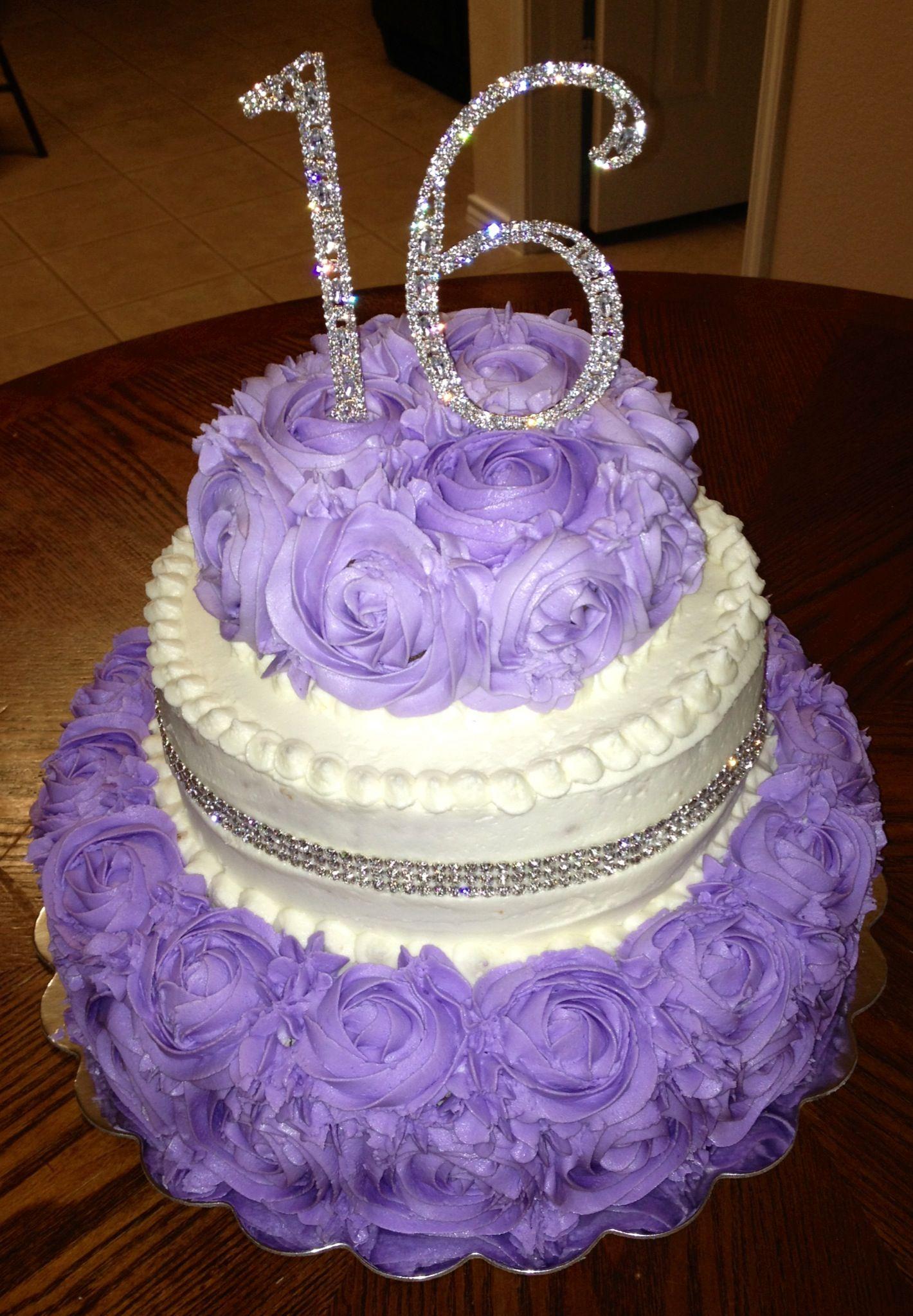 Purple Swirls Sweet 16 Cake With Images Sweet 16 Birthday Cake