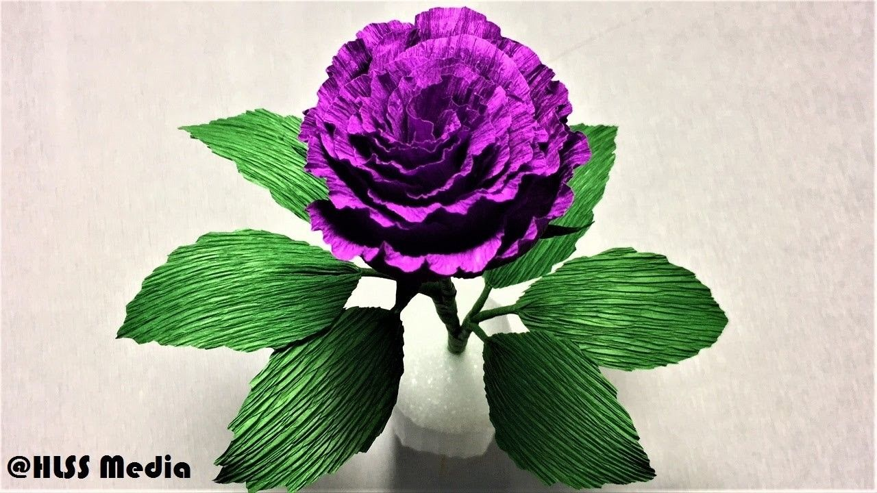 How To Make Easy Origami Purple Rose Paper Flower Step By Step Diy